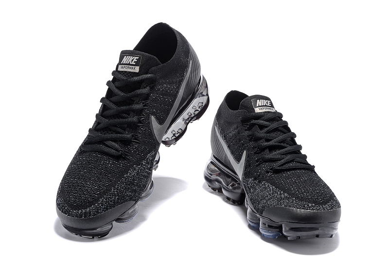 newest ba2a6 0b73a Nike Air VaporMax Flyknit 2018 Black Gery Men's Running Shoes 849558-002