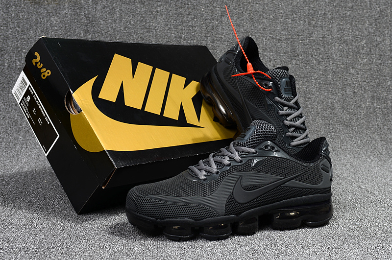 7cda1f687614 Nike Air VaporMax 2018 Kpu Anthracite Grey Black Men s Running Shoes ...