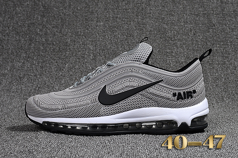 60147ee78fd73 Off White X Nike Air Max 97 Kpu Cool Grey Black White Men's Running Shoes