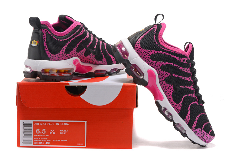 e0bd1512e6 Nike Air Max Plus TN Ultra Black Pink White Women's Running Shoes ...