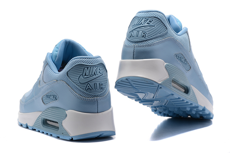 cheap for discount cae89 9bc8f Nike Air Max 90 Light Blue White Men s Running Shoes Sneakers