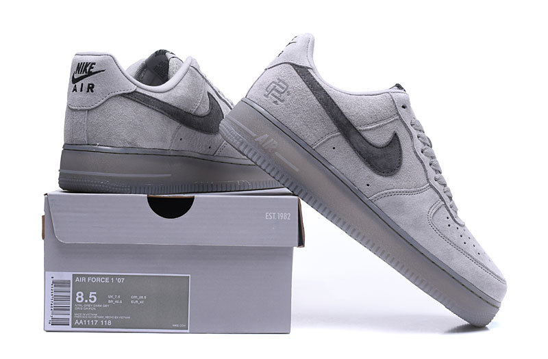 half off 6e010 5233a Nike Air Force1 x Reigning Champ Classic Gray Ash Men's Women's ...