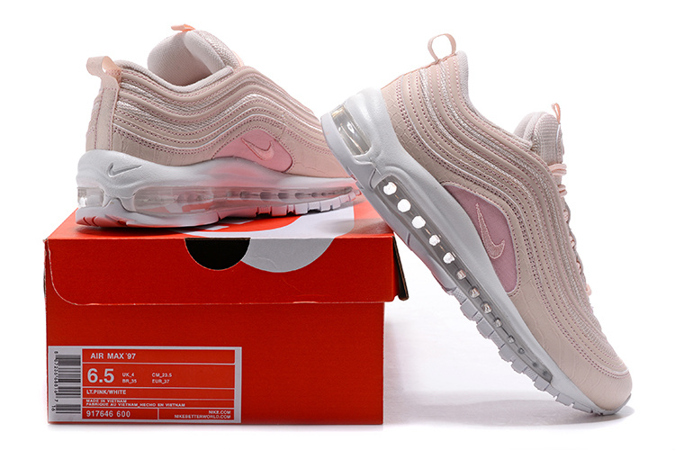 reputable site e108c e3ba9 Nike Air Max 97 Silt Red Pink Snakeskin Women's Running Shoes 917646-600