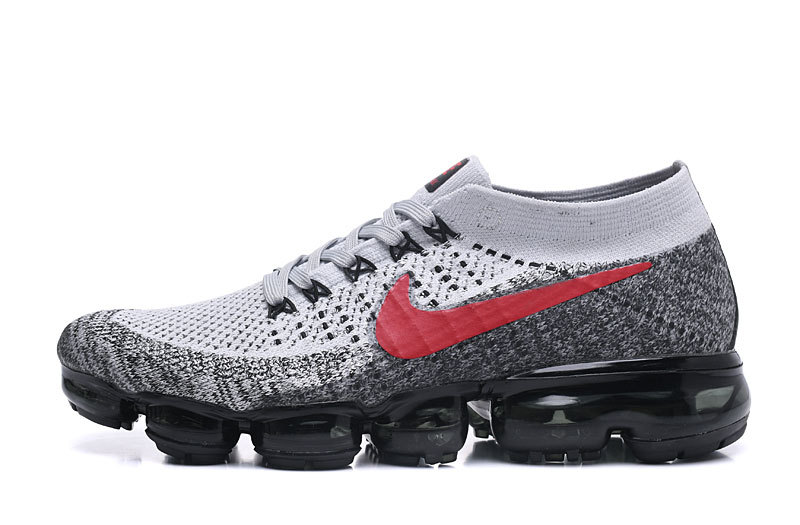 ... 849558 060 8f953 f37dd discount nike air vapormax flyknit grey red  black mens running shoes f5ca1 4dfb0 ... 3fc153a78