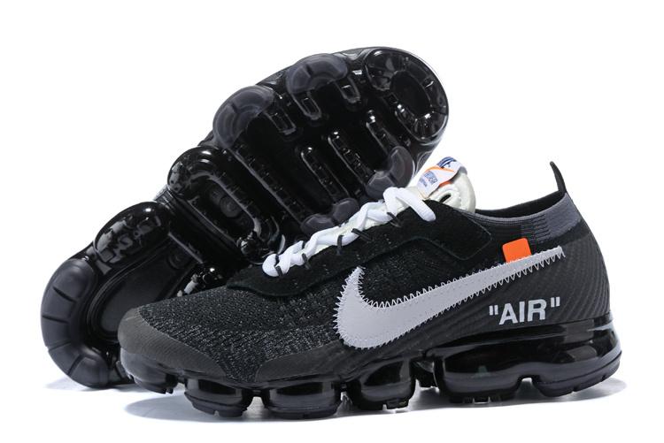 4f799c17182 OFF-WHITE x Nike Air VaporMax Flyknit Black White AA3831 001 Women s Men s  Running Shoes