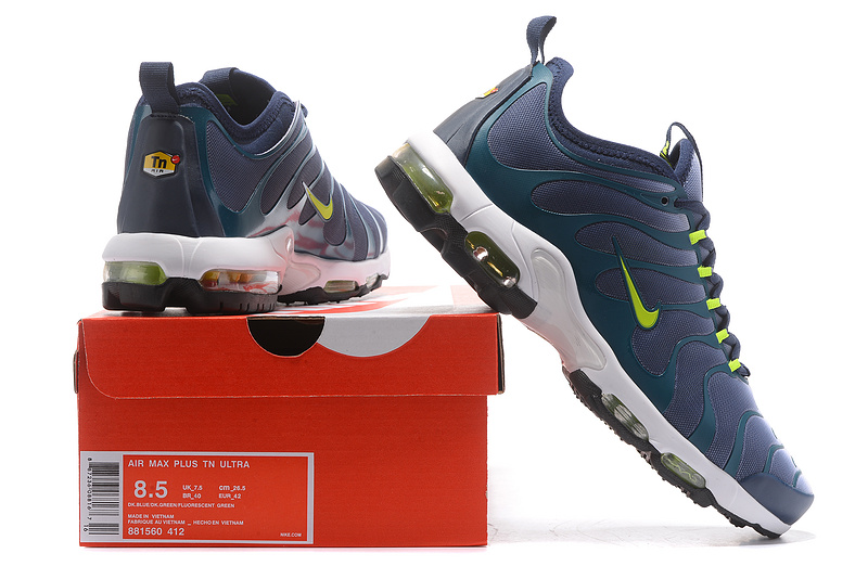 best sneakers 1ff99 5ab4d Nike Air Max Plus TN Ultra Blue Green Black White 881560 412 Men s ...