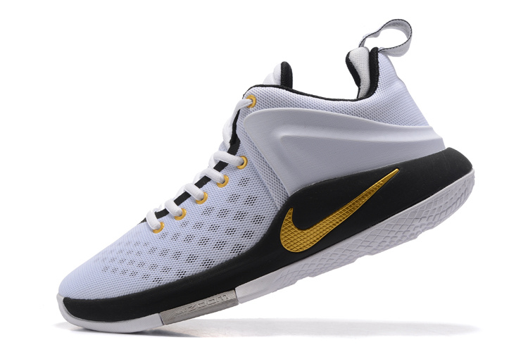6249a2ad9ac5 Nike Zoom Witness EP Lebron James White Black Wolf Grey Metallic Gold Men s Basketball  Shoes