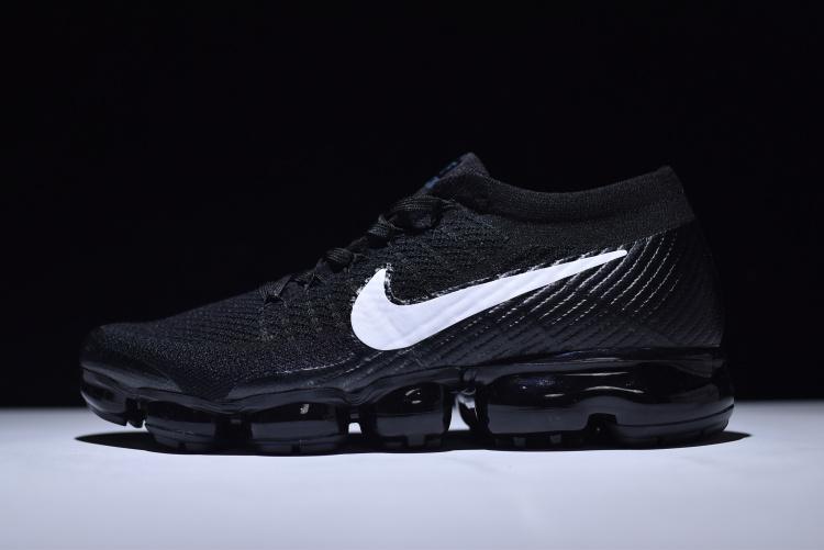 separation shoes 79039 c4e00 Nike Air VaporMax Flyknit Black White Women's Men's Running Shoes  849558--001