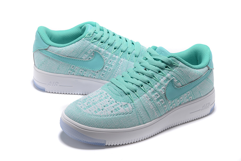 sneakers for cheap b0cd5 a0965 Nike Air Force 1 Ultra Flyknit Low Bright Blue White Women's Casual Shoes  Sneakers 817420-405