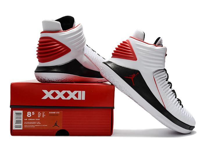 b9d881b99a9f1f Air Jordan XXXII PF AJ32 White Red Black Men s Basketball Shoes NIKE ...