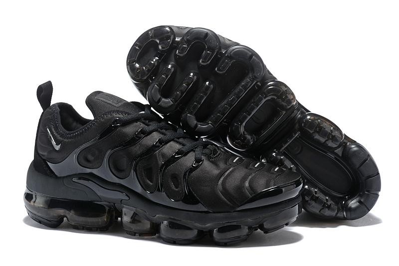 new style a1fa9 07212 Nike Air Max Plus TN 2018 Triple Black Women's Running Shoes NIKE-ST001961