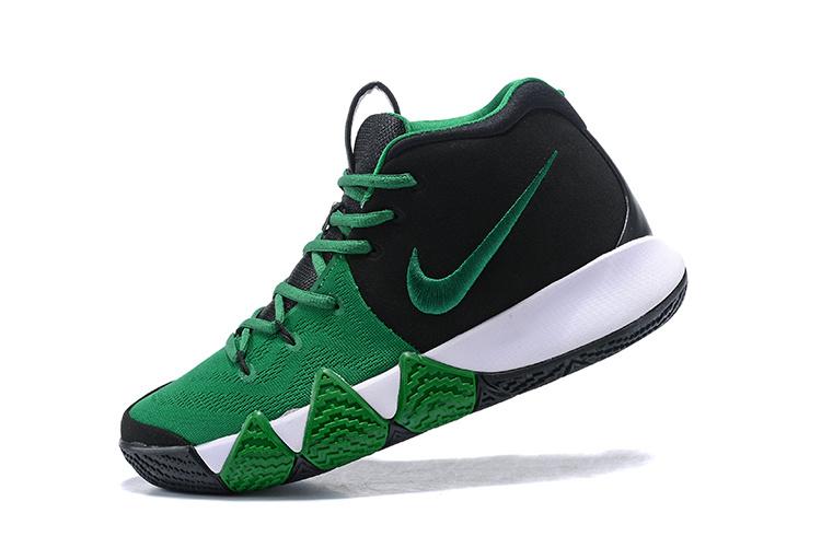 huge discount 59887 17841 Nike Kyrie Irving 4 Black Green White Men's Basketball Shoes NIKE-ST001594