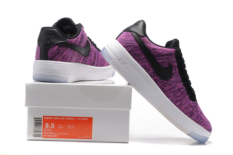 newest 55611 fa772 Nike Air Force 1 Ultra Flyknit Low Purple Teal Game Royal Punch Women's  Casual Shoes Sneakers 817420-601