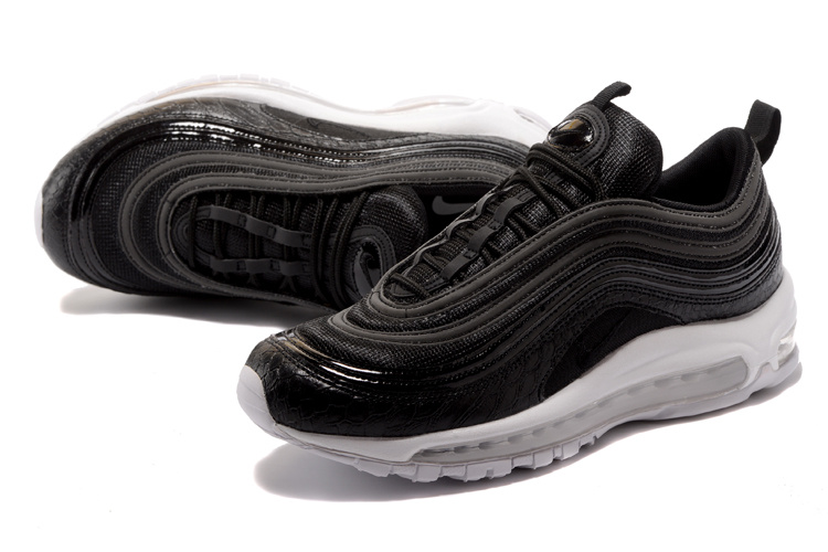size 40 34912 07925 Nike Air Max 97 Premium Black White Men's Running Shoes 917646-001