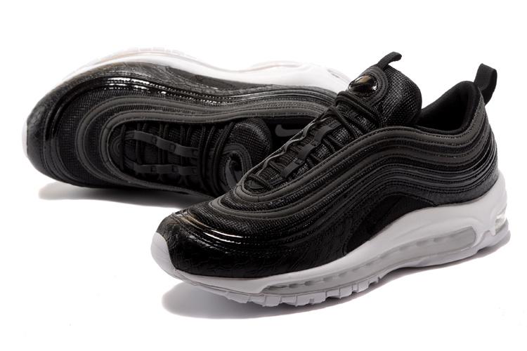 b7a5cb9e6e Nike Air Max 97 Premium Black White Men's Running Shoes 917646-001