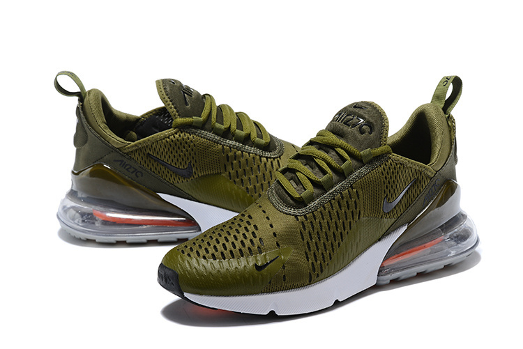 newest 852c3 9c414 Nike Air Max 270 Flyknit Army Green White Men's Running Shoes AH8050-300