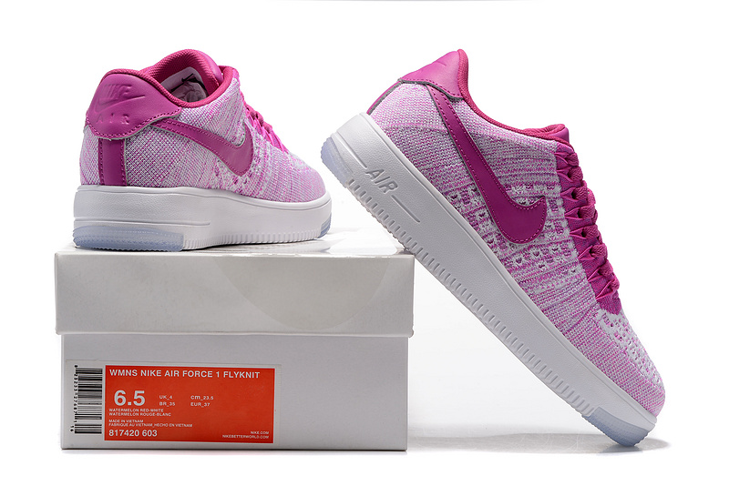 online store a07b5 7fe2f Nike Air Force 1 Ultra Flyknit Low Purple Pink White Women's Casual Shoes  Sneakers 817420-603