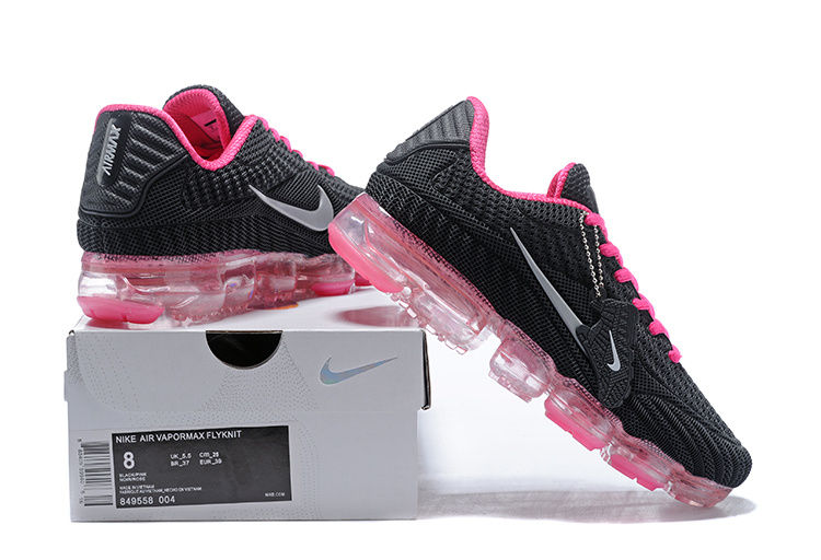 396329ca662 ... switzerland nike air vapormax flyknit kpu black pink white womens c3190  486eb