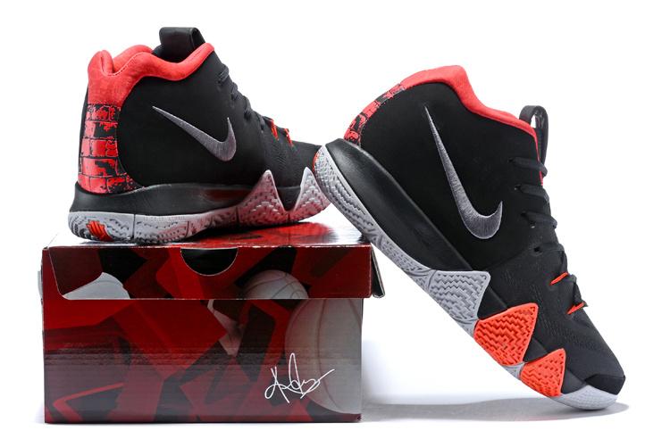 b1ff4da5598c Nike Kyrie 4 Black White Red Men s Basketball Shoes NIKE-ST001615 ...