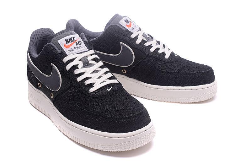 Nouvelles Arrivées 1ef20 a5abf Nike Air Force 07 LV8 Crocodile Leather Black Dark Grey Men's Running Shoes  Sneakers 718152-018