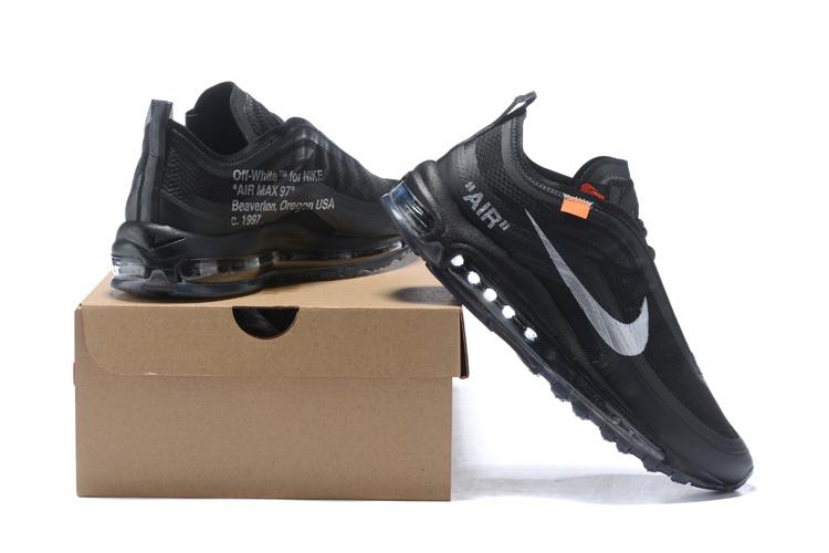 Nike x OFF WHITE Air Max 97 OFF-WHITE Black Cone Ice Blue AJ4585 100 Men s  Running Shoes NIKE-ST001237 f7234de66