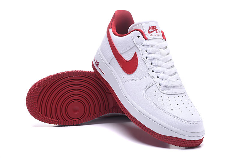 purchase cheap 353ad c010d Nike Air Force 1 07 SE White Speed Red Men's Women's Running Shoes Sneakers  AA0287-101