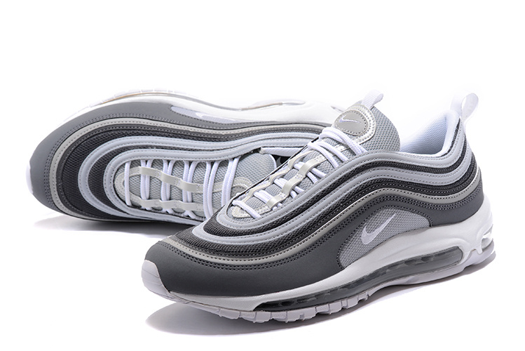 Nike Air Max 97 Wolf Grey Grey Summit blanco Dark Grey Grey hombres Running Zapatos 05262a