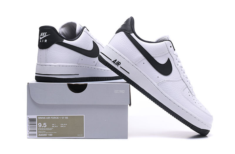 sale retailer ff56b c90d8 Nike Air Force 1 07 SE White Black Men s Women s ...
