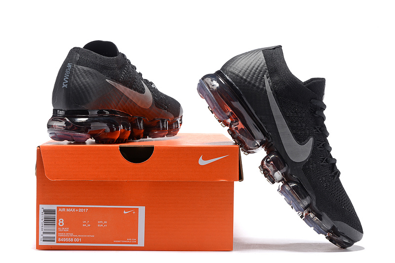 4754a56620b2ba ... Max Running Shoes›  Nike Air Vapormax Shoes›. Nike Air VaporMax Flyknit 2018  Black Men s ...