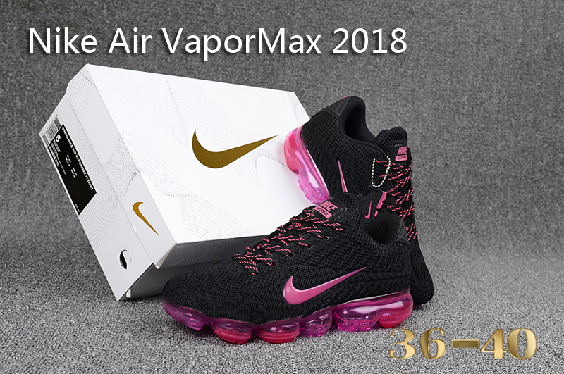 2b4972520c4 Nike Air Vapor Max 2018 KPU Black Pink Women s Running Shoes NIKE ...