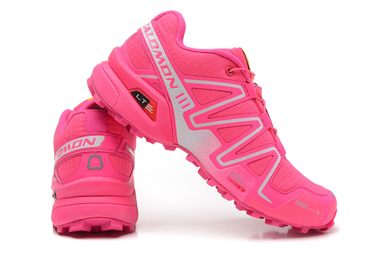 bf2e566df29a ... cheap salomon speedcross 3 gs hyper pink vivid pink white womens  athletic outdoor hiking shoes 5c35a