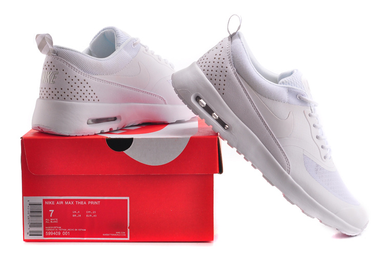 new concept cd1bd 335b0 Nike Air Max Thea Print Trainers Triple White 599409 001 Women's Men's  Running Shoes Sneakers 599409-001
