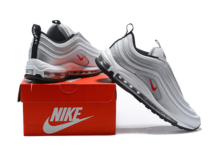 Nike Air Max 97 Ultra 17 Se Silver Bullet Red Men s Running Shoes ... 1a2d167aa