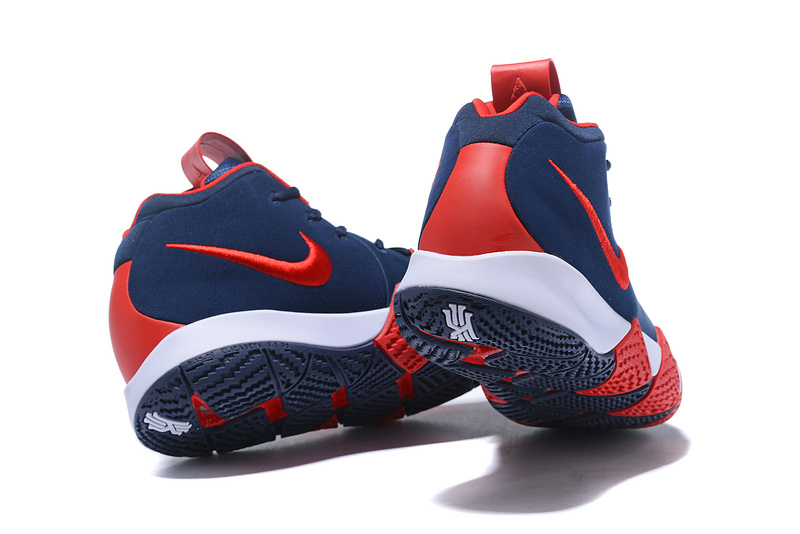 Nike Kyrie 4 Navy Blue Red White Men s Basketball Shoes NIKE ... ec8af44a6