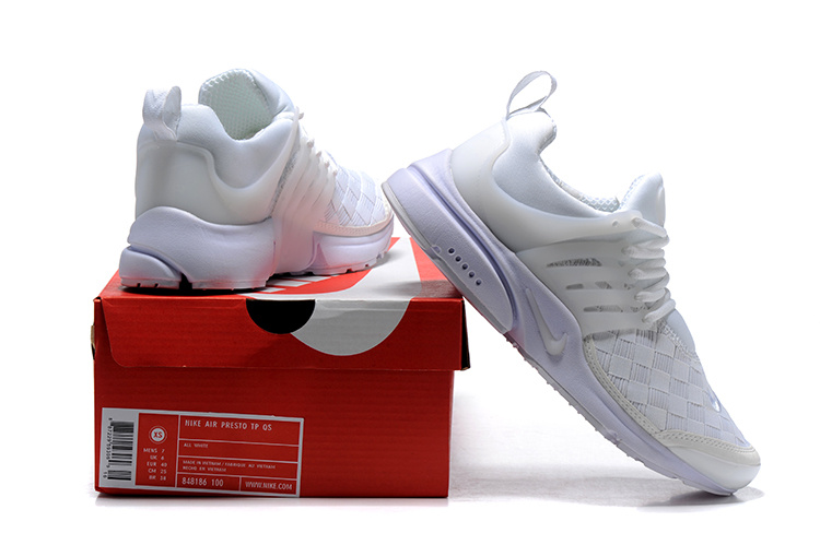 super popular 7cd9c 2993b Nike Air Presto SE Woven Triple White Men's Women's Running Shoes 848186-100