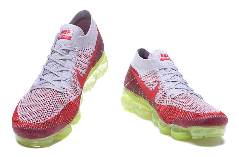 more photos 8e809 68b13 Nike Air Vapormax Flyknit White Red PREMIUM AMD ID Men's Running Shoes  849558-111