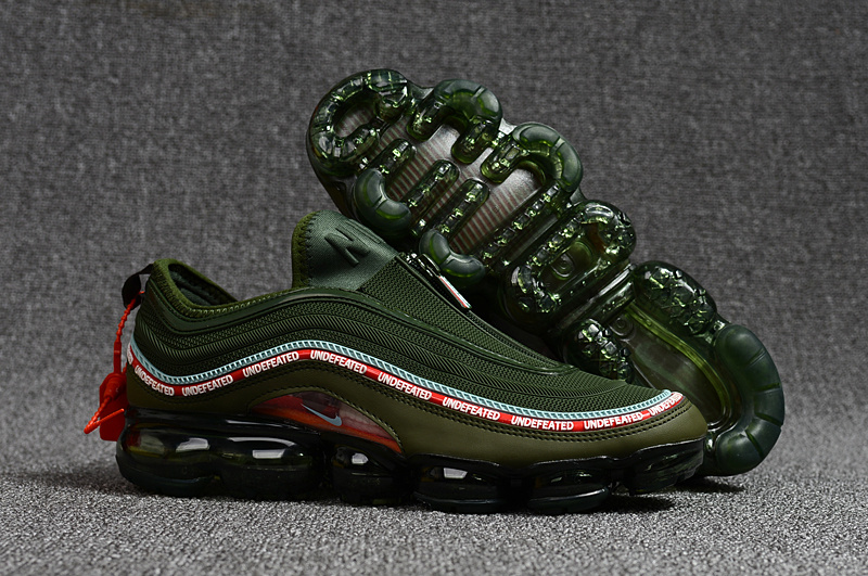 brand new be897 6fde9 Undefeated Nike Air Max 97 VaporMax 2018 KPU Green Black Red White Mens  Running Shoes