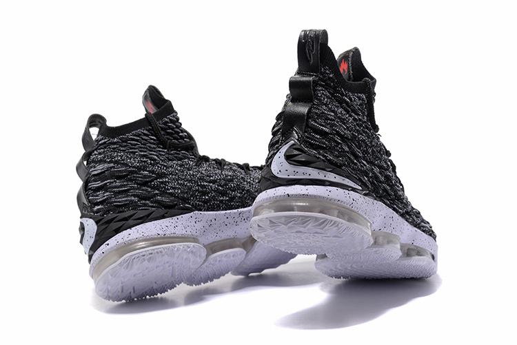 reputable site c5b09 63ba2 Nike Lebron 15 XV Oreo Men's Basketball Shoes NIKE-ST001712