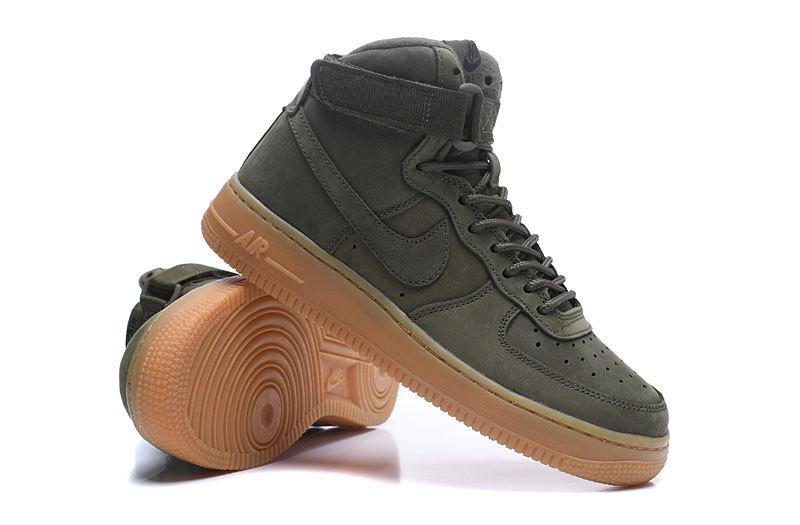 la moitié 320e0 4bd91 Nike Air Force 1 High Medium Olive Men's Women's Running Shoes Sneakers  922066-202
