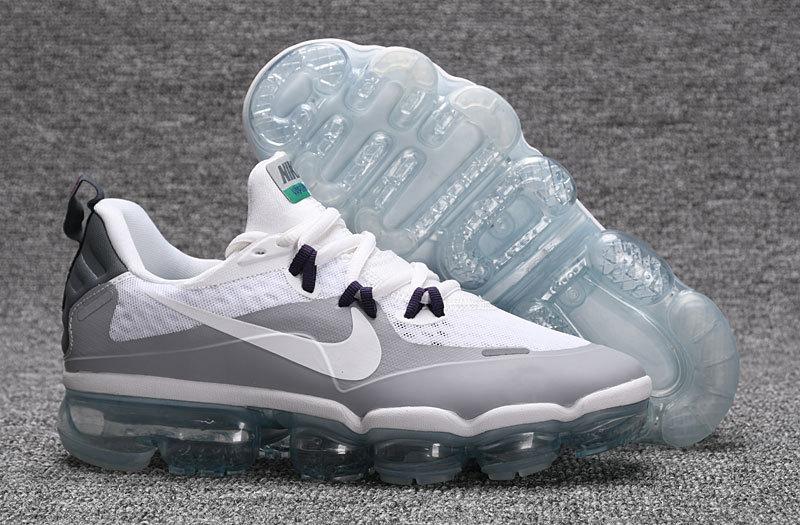 c53de7cc08f04 Nike Air VaporMax Flyknit Grey White Women s Men s Running Shoes ...