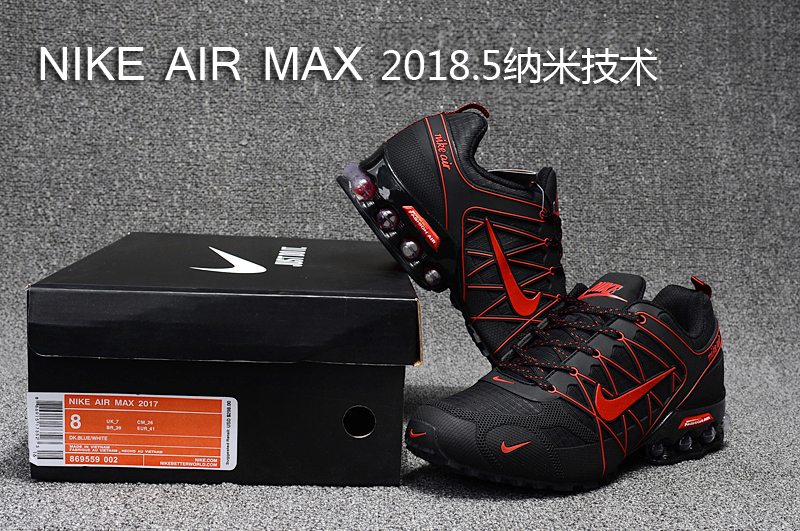 buy online ab045 2f9c3 Nike Air Max 2018. 5 Shox KPU Black Red Men's Running Shoes 869559-002