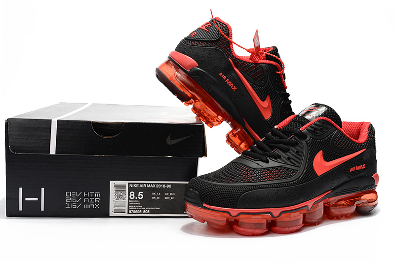 best sneakers dec95 f4c94 Off White x Nike Air Max 90 KPU Black Red 875695 508 Men's Running Shoes  Sneakers 875695-508
