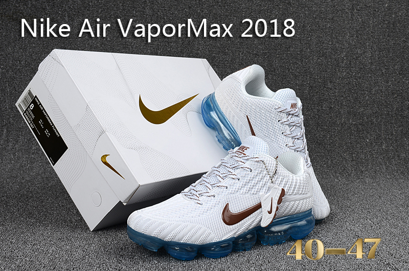 newest f69c1 d703c Nike Air Vapor Max 2018 KPU White Blue Men's Running Shoes NIKE ...