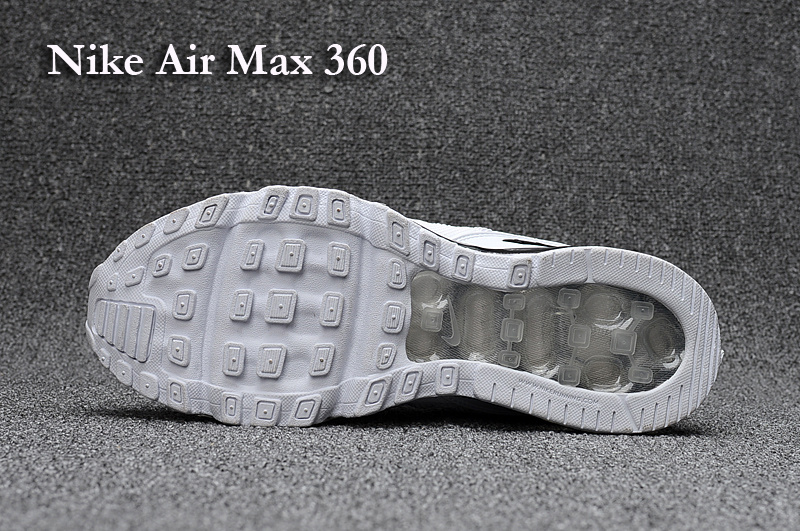 06fb19f83f Nike Air Max 360 Kpu White Black Men's Running Shoes NIKE-ST001221 ...