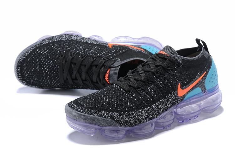 check out c9665 8b597 Nike Air VaporMax Flyknit TPU Purple Black Blue Orange Women's Running  Shoes 781024-064