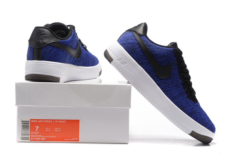 brand new a434c 8815e Nike Air Force 1 Ultra Flyknit Low Game Royal Black White Women's Men's  Casual Shoes Sneakers 817420-400