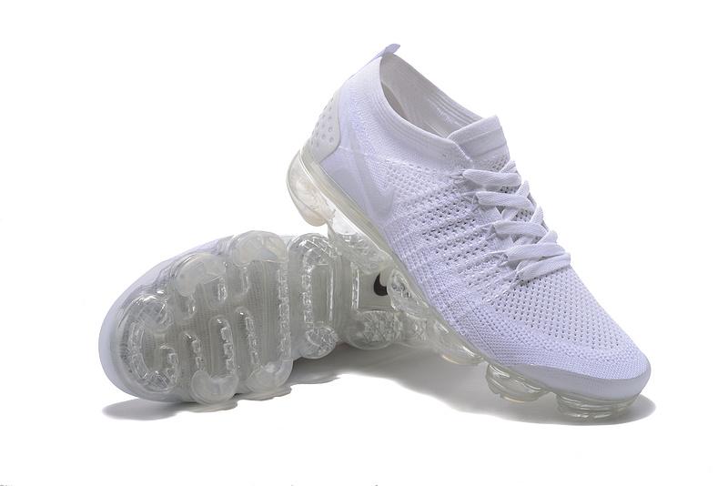 wholesale dealer 6901f d1f94 Nike Air VaporMax Flyknit 2 TPU Triple White Women's Men's Running Shoes  NIKE-ST000581