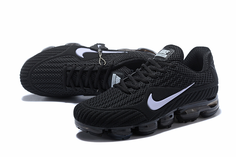 25d406bfca3dd Nike Air Vapormax Flyknit Kpu Black White 849558 001 Women s Men s Running  Shoes