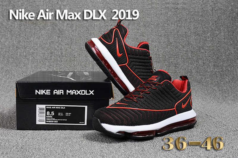 902fd94c5c4 Nike Air Max DLX 2019 Black Red White Men s Running Shoes 849559-003 ...