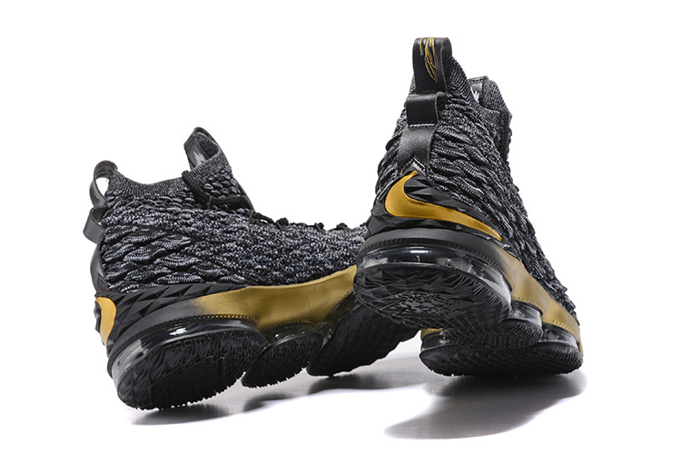 huge discount 30df5 020b6 Nike Lebron 15 XV Black Gold Men's Basketball Shoes NIKE-ST001713